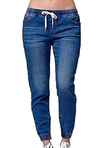 Damen Jeans Hosen Fashion Slim Lange Hose Denim Trousers Mit Bandage Damen Jeans Schwarze Jeans Hosen