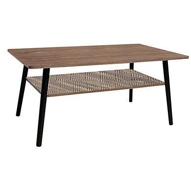 Table Basse Rectangle Floden Noyer Noir Table Meuble Canape Et