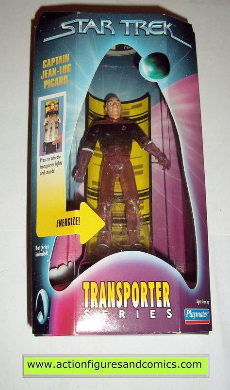 STAR TREK JEAN LUC PICARD TRANSPORTER SERIES FIGURE IN ORIGINAL BOX BY PLAYMATES