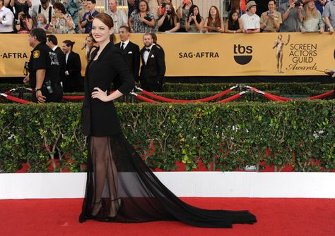 Emma Stone de Christian Dior Alta Costura - SAG 2015