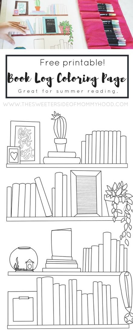 Printable Book Log Coloring Page The Sweeter Side Of Mommyhood Book Log Printable Books Free Printable Coloring Pages