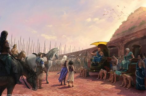 Daenerys sets the slaves free: Fantastic Illustration by