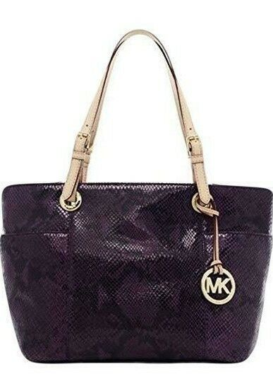 Michael Kors Jet Set Purple Snake