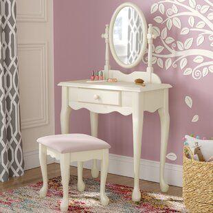 Kidkraft Princess Vanity Set With Mirror Bedroom Vanity Set Kids Vanity Vanity Set With Mirror
