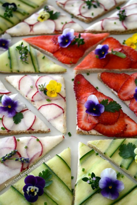 Exquisite, paper-thin English tea sandwiches. Recipe at Home Is Where the Boat Is.