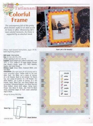 Square and rectangle picture frames Plastic canvas#20 Pinterest - why sop is used