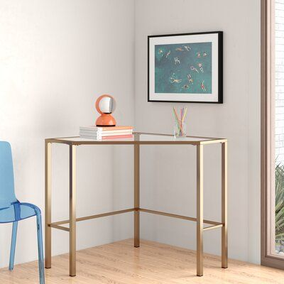 Coopers Desk Allmodern In 2020 Modern Corner Desk Glass Corner Desk Small Corner Desk
