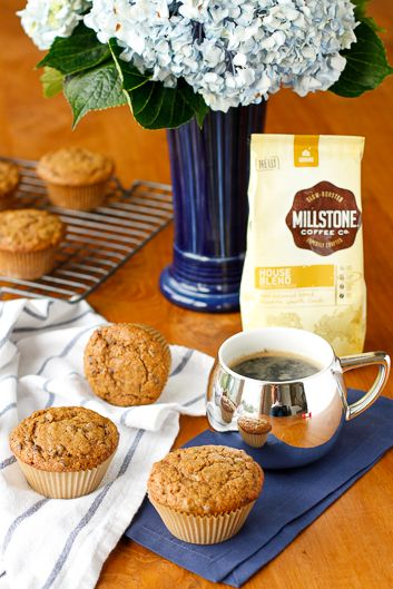 Chocolate Chip Muffin Recipe -- these chocolate chip coffee muffins are moist and flavorful, amazing with a hot cup of coffee on a cool fall morning!