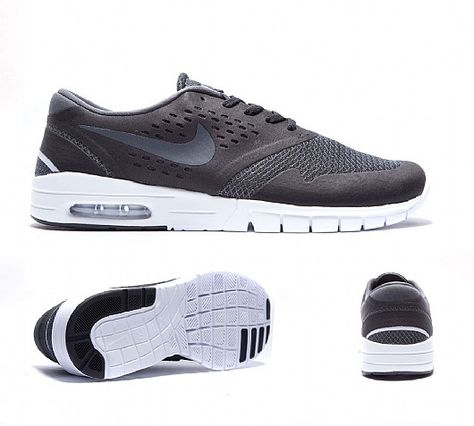 Nike SB Koston 2 Air Max Black, Red & Cool Grey Shoes