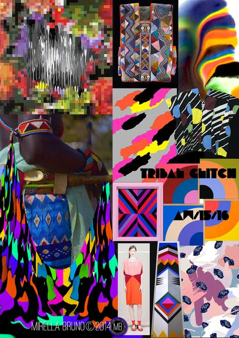 Inspiration Information - Mirella Bruno Print Designs Tribal Glitch Ive been sitting on these for a inspirations.
