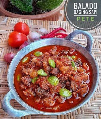Balado Daging Sapi Pete Resep Daging Sapi Resep Masakan Resep Masakan Indonesia
