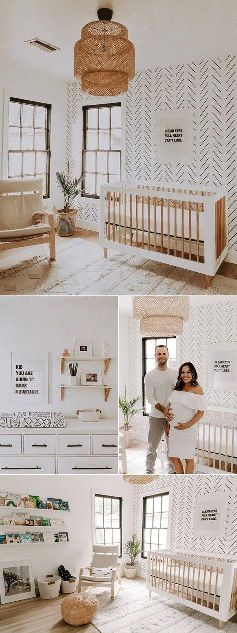 Earthy Nursery Trend! 5 Modern Neutral Nursery Room Ideas We Love! Minimalist Boho Vibe
