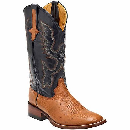 Smooth Ostrich Cowboy Boots S-Toe