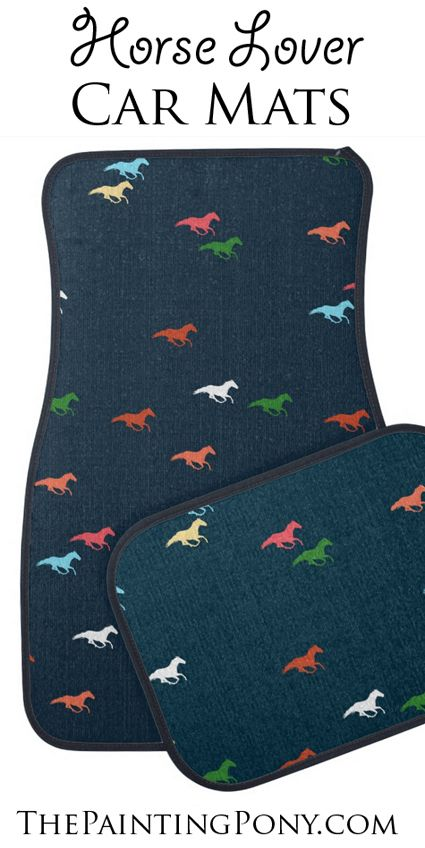 Horse Lover Car Floor Mats Keep Your Car Clean With Stylish Equestrian Themed Mats For Your Truck Car Or Other Vehicl Car Floor Mats Floor Mats Horse Lover