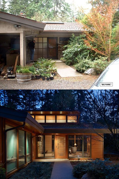 Midcentury Modern Remodel Before After Ranch House Remodel