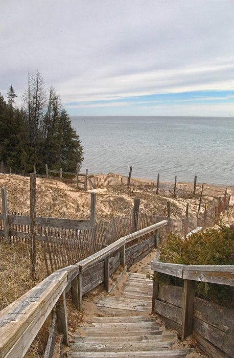 Whitefish Dunes State Park By Priscilla Farrell On Capture Door County Stairway To The Beach Door County Wi Door County State Parks