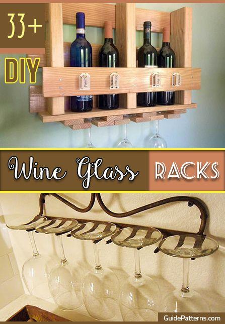 33 Diy Wine Glass Racks Guide Patterns Diy Wine Glass Diy