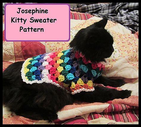 Crochet a Cool Cat Sweater! Foxy Feline Sweater Pattern By ... | 426x474