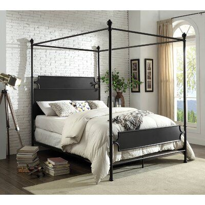 Alcott Hill Pedro Canopy Bed Wayfair In 2020 Metal Canopy Bed Queen Canopy Bed Furniture Of America