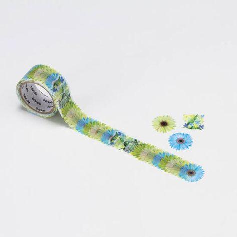 Bande BDA215 - Gerbera bouquet mini green masking roll