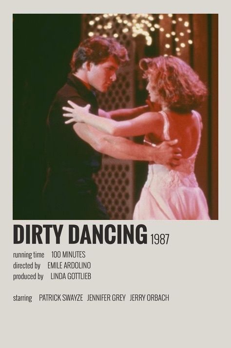 Dirty Dancing polaroid movie poster