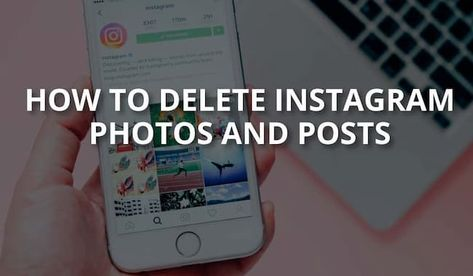 How to Delete Instagram Photos {Single & All Photo Methods}