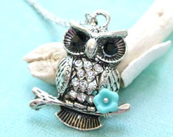 Stamped Necklace Corid Owl Art Picture Locket Owl Jewelry Art Locket Necklace Owl Art Locket Owl Lover Gift Owl Locket Necklace
