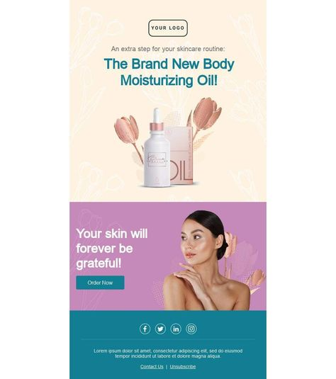 The Moisturizing Oil That Makes The Difference - Email Template