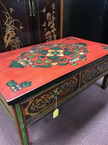 tibetan painted coffee table ebay