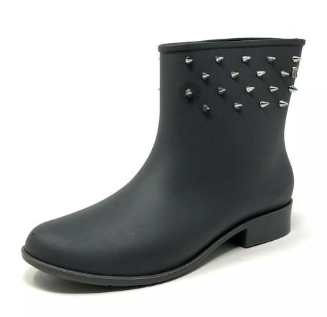 Black Melissa Shoes Moon Dust Ankle Boot