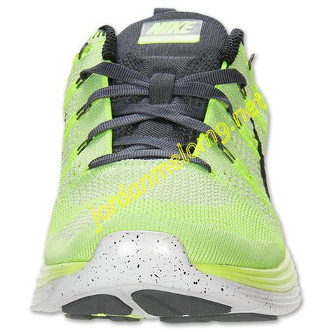 9e08d976a089 Volt 554887 705 Nike Flyknit Lunar 1 Mens Black White Pure Platinum Dark  Grey