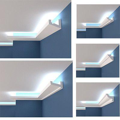 Polystyrol Stuckleiste Lichtprofile Led Indirekte Beleuchtung Hartschaum 2m 12m Lighting Design Interior Ceiling Light Design Home Interior Design