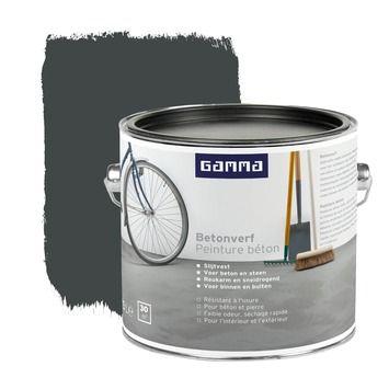 Gamma Betonverf Antraciet 2 5 Liter Gamma Grijs Verfkleuren