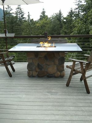 How To Build A Propane Fire Pit Dining Table Fire Pit Table Top