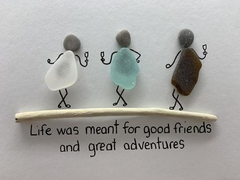 Sea Glass Crafts, Sea Glass Art, Seashell Crafts, Sea Glass Jewelry, Stained Glass, Stone Pictures Pebble Art, Stone Art, Stone Crafts, Rock Crafts