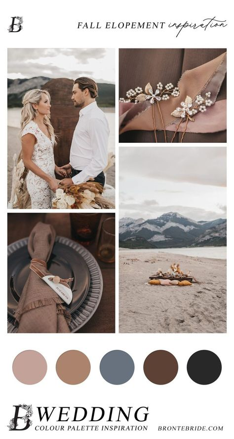 Modern Elopement - Wedding Colour Palette Inspiration #elopementinspiration #modernelopement #rockymountainwedding #rockymountainelopement #bohowedding #bohoelopement #bohocolourpalette…