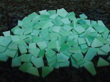 NUOVE! Tessere VETRO OPALESCENTE Mosaico Irregolari. Colore Verde Acqua COPRENTE