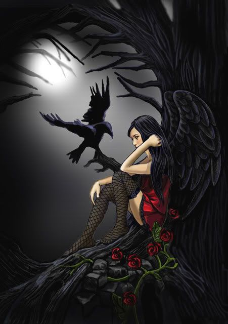 Angel After Dark. Top Gothic Fashion Tips To Keep You In Style. Consistently using good gothic fashion sense can help Sad Fairy, Fairy Art, Gothic Angel, Gothic Fairy, Gothic Fantasy Art, Fantasy Kunst, Dark Gothic Art, Gothic Artwork, Gothic Glam