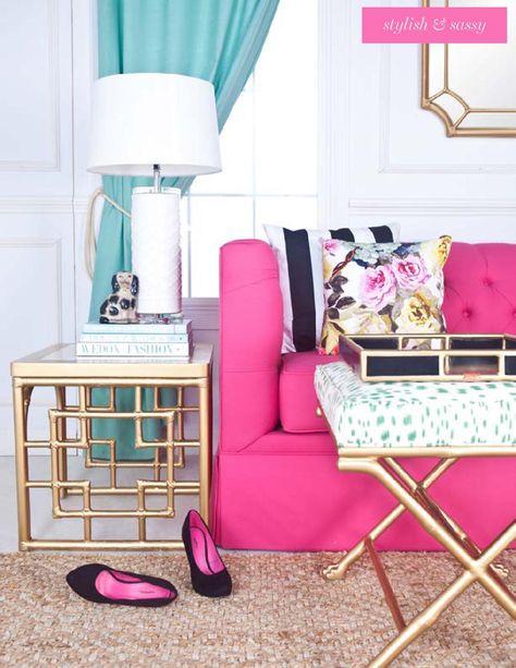 Color Inspiration: Navy, Aqua, Pink and Gold   Color inspiration ...