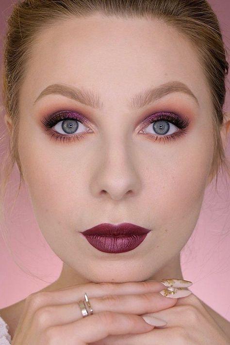 30 Dreamy Boho Wedding Makeup Looks ❤ boho wedding makeup burgundy tones with bridht lips clavier_official #weddingforward #wedding #bride #weddingmakeup #bohoweddingmakeup