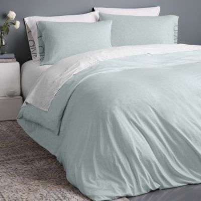 Calvin Klein Modern Cotton Jersey Body Solid Duvet Cover King In 2021 Solid Duvet Bed Sets For Sale Bed Linens Luxury