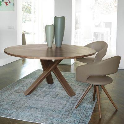 Tavolo moderno di design clover reverse & cloud. Tavolo Tondo Di Design Moderno In Legno Made In Italy Cristal Contemporary Dining Room Furniture Modern Dining Table Round Dining Table