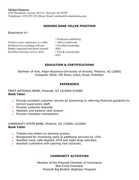 Banking Executive Manager Resume Template - Banking Executive - cable technician resume