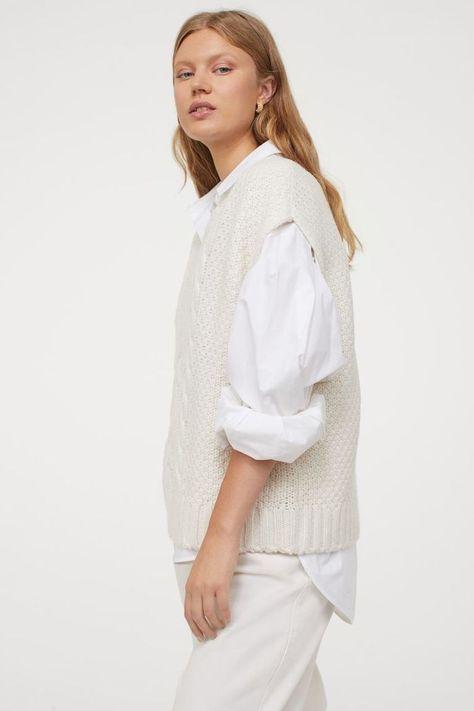 HM Cable-Knit Sweater Vest