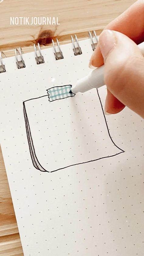 How I doodle post it notes - doodle ideas - bullet journal - planner doodles - easy doodles