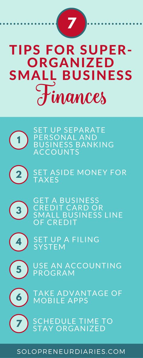 7 Insanely Easy Tips for Organized Small Business Finances