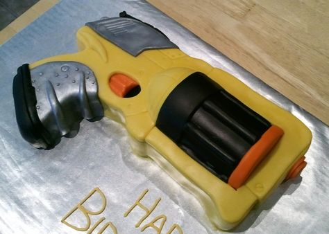 In Nerf Gun Cake Album Childrens Birthday Cakes