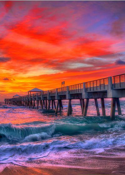JUNO BEACH bridge in fabulous north Palm Beach County. Tranquil beach with warm Atlantic Ocean breezes and soft sand. #junobeach #palmbeachcounty #florida