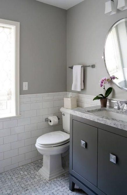 Bath Room Grey And White Gray Paint 40 Trendy Ideas Gray And White Bathroom Grey Bathrooms Designs Gray Bathroom Decor