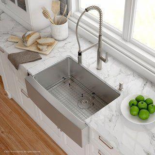 Kraus 30 Inch Farmhouse Single Bowl Stainless Steel Kitchen Sink Kpf 1640 Nola Commer Farmhouse Sink Kitchen Stainless Steel Farmhouse Sink Apron Sink Kitchen